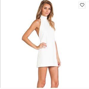 Solace London choker neck low back dress
